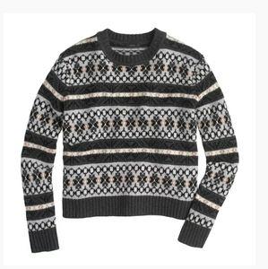 J.Crew Classic Fair Isle Lambswool Sweater…